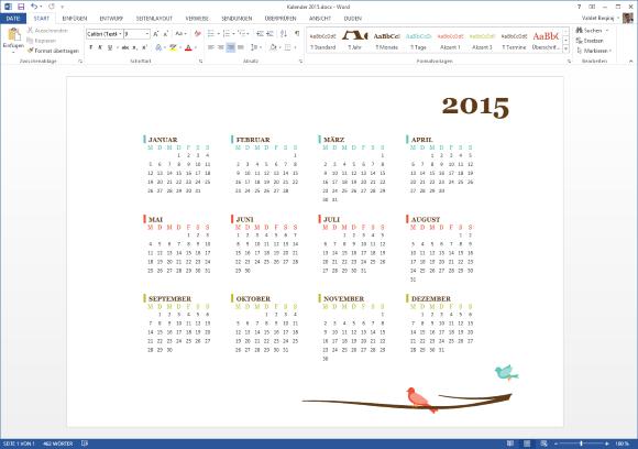 Kalender 2015 Vorlage für Microsoft Word – it-blogger.net
