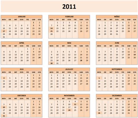 kalender 2011 vorlagen f r microsoft word
