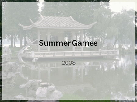 PowerPoint Design Template for the 2008 Beijing Summer Olympic games
