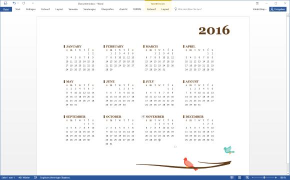 Kalender 2016 Vorlage für Word, Excel und PowerPoint – it-blogger.net