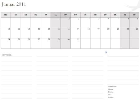 neue kalender 2011 vorlagen f r microsoft office