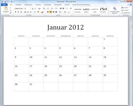 kalender 2012 vorlagen f r microsoft word