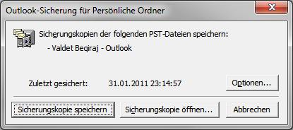 Persönliche Ordner Datei automatisch per Outlook Add-In Sichern