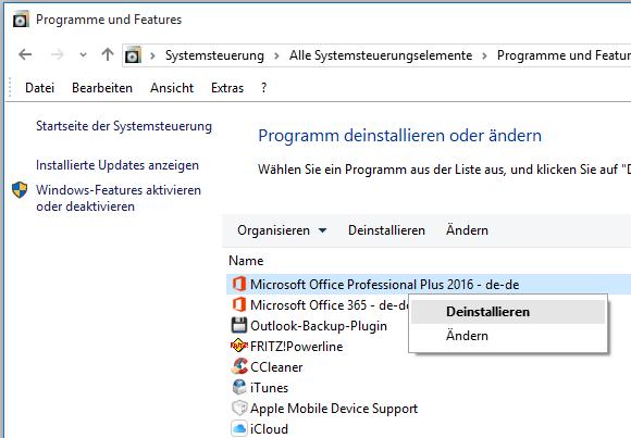 Office 2016 restlos entfernen und erneut installieren – it