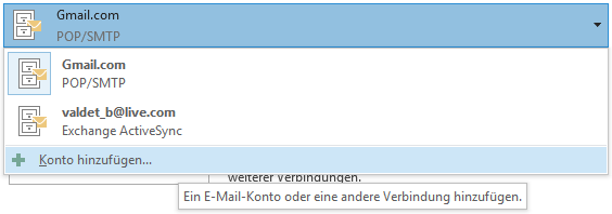 Gmail E-Mail-Konto in Outlook 2013 hinzufügen