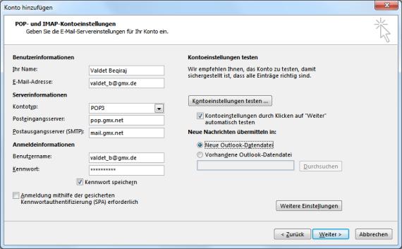 GMX POP10 E-Mail-Konto in Outlook 20110 hinzufügen – it-blogger.net