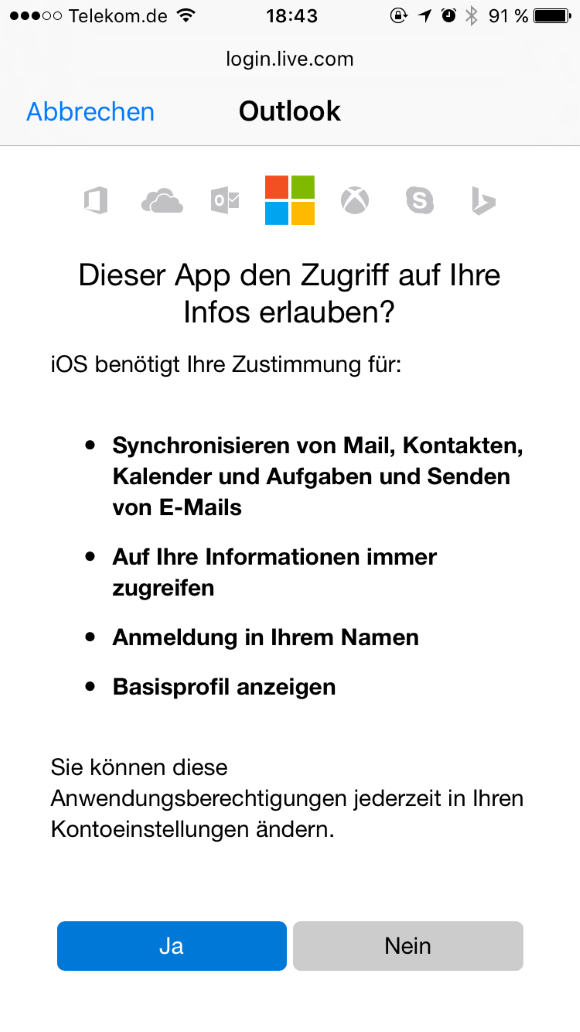 Iphone  Mit Outlook Synchronisieren