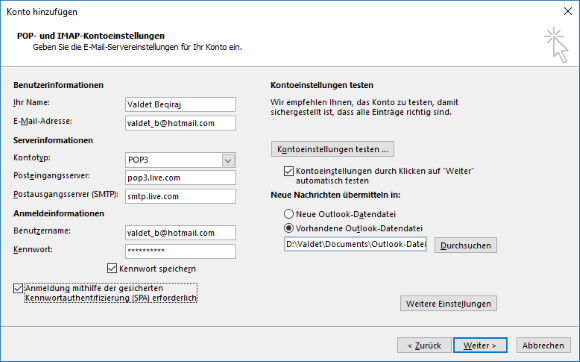 Hotmail POP9 E-Mail-Konto in Outlook 9 hinzufügen – it-blogger.net