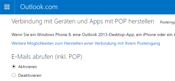 Hotmail POP3-E-Mail-Konto in Outlook einrichten