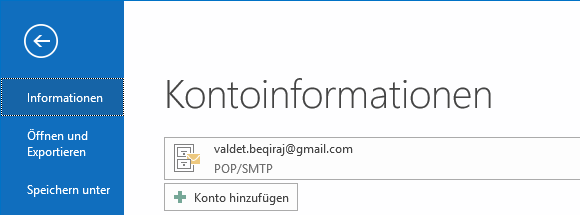 iCloud Mail in Outlook 2016