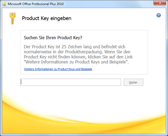 Office 2010 Product Key ändern