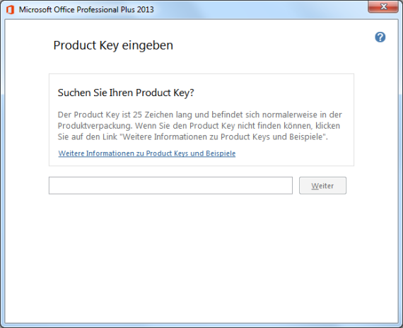 Office 2013 Product Key ändern