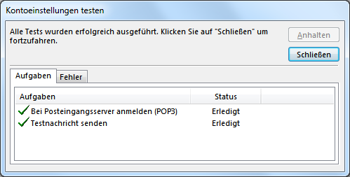 Outlook.com POP3 E-Mail-Konto in Outlook hinzufügen
