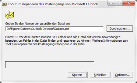 Outlook 2010 PST-Datei reparieren