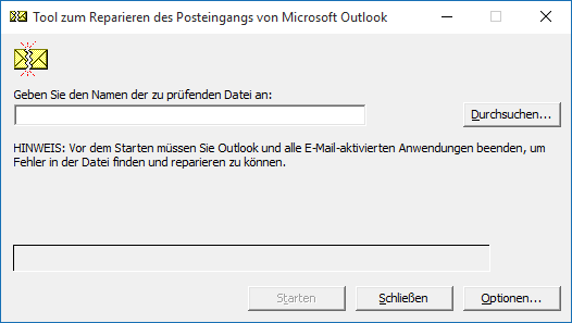 Outlook 2016 PST-Datei reparieren