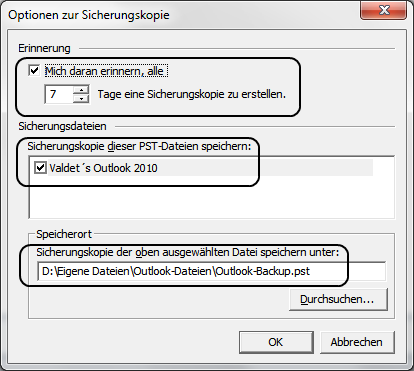 pfbackup outlook 2010