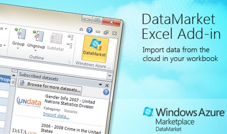 Windows Azure™ Marketplace DataMarket Add-In for Excel