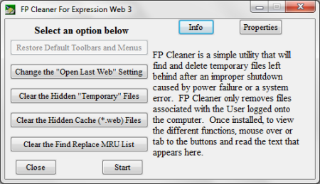 Expression Web 3 Cleanup Utility