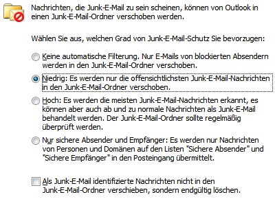 Update für den Junk-E-Mail-Filter von Outlook 2010