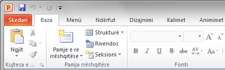 PowerPoint 2010 auf Albanisch mit Office Language Interface Pack 2010