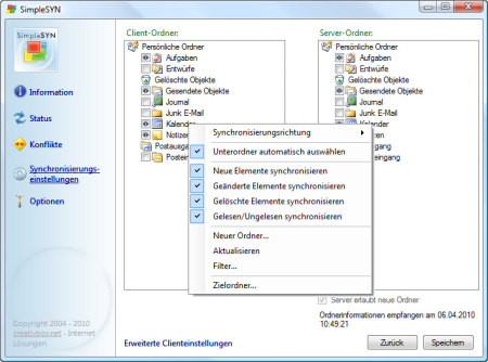SimpleSYN - Effektiv Outlook synchronisieren
