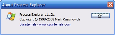 Process Explorer v11.21 - Published: May 28, 2008