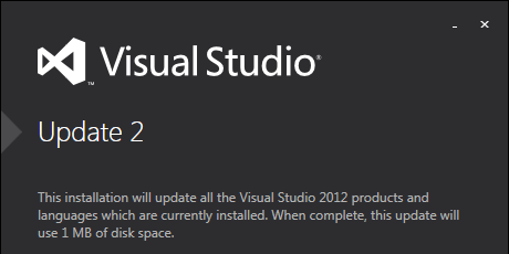 Visual Studio 2012 Update 2