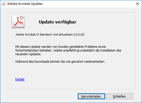 Adobe Reader und Acrobat 11.0.14 Update