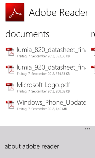 Adobe Reader 10.1.0 für Windows Phone