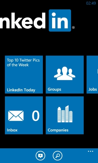 LinkedIn App für Windows Phone