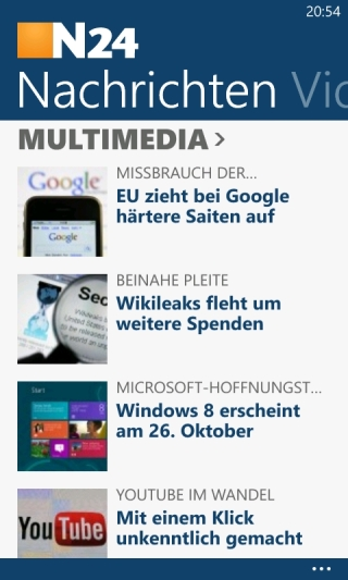 N24 App für Windows Phone