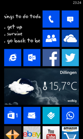 wetter.com App für Windows Phone 8