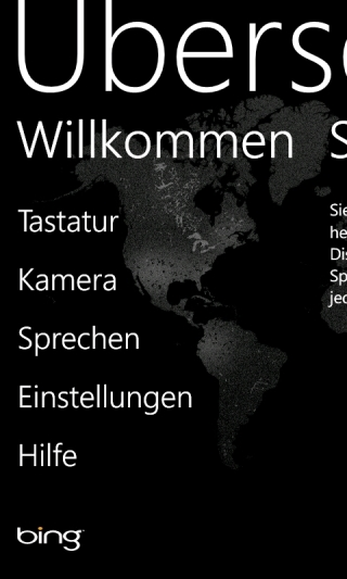 Bing Translator App für Windows Phone