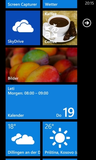 SkyDrive App für Windows Phone