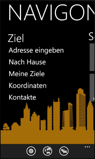 NAVIGON Europe für Windows Phone 7