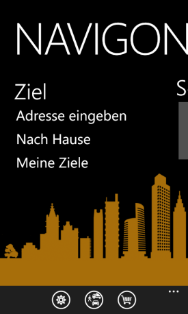 NAVIGON App Europe für Windows Phone
