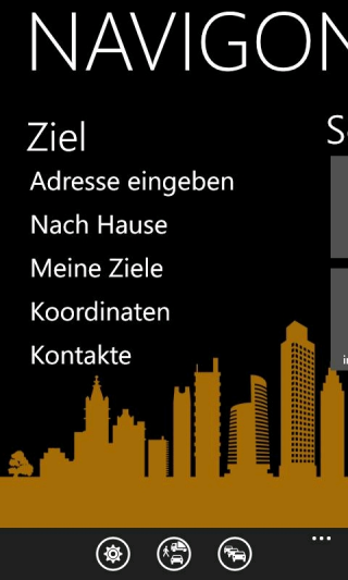 NAVIGON für Windows Phone
