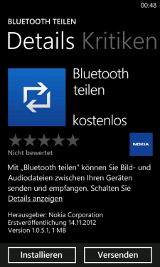 Bluetooth Share for Windows Phone Lumia Devices