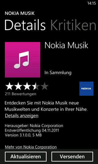 Nokia Musik für Windows Phone