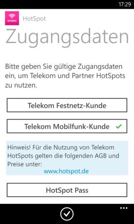 telekom hotspot login app f r windows phone ist da it. Black Bedroom Furniture Sets. Home Design Ideas