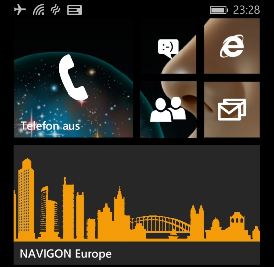 NAVIGON App für Windows Phone