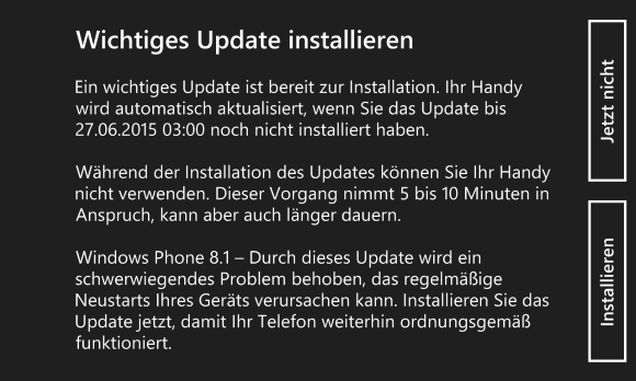 Windows Phone 8.1 Update 8.10.15116.125