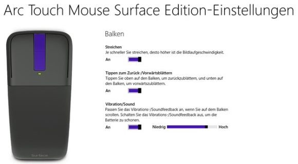 Arc Touch Mouse Surface Edition App für Windows 8.1 und Windows RT 8.1