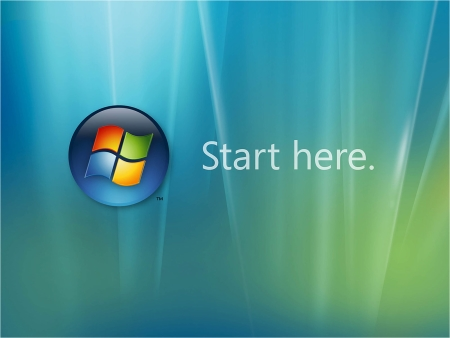 "Windows Vista Launch Kit ""Start here"" Wallpaper herunterladen"